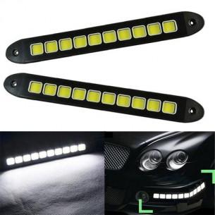 Гибкие светодиодные дневные ходовые огни LED DRL COB 10  квадратов