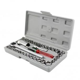 Набор инструментов и торцевых головок AIWA для авто 40 в 1 5