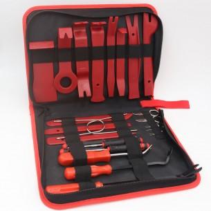 Набор съемников обшивки авто 19 предметов (красный))